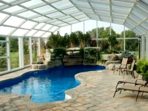 Retractable pool enclosures by covers in play youtube for Garden pool covers