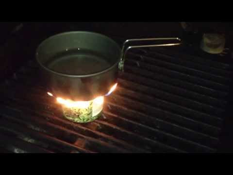 Alcohol Survival Stove: Easy Camp Cooking