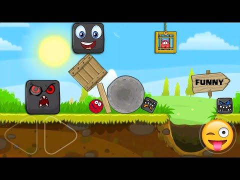 """RED BALL 4 - Raspberry Ball """"FUNNY SUPERSPEED"""" Gameplay in Green Hills with Boss Fight"""