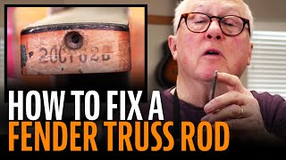 Watch the Trade Secrets Video, How to fix a Fender truss rod