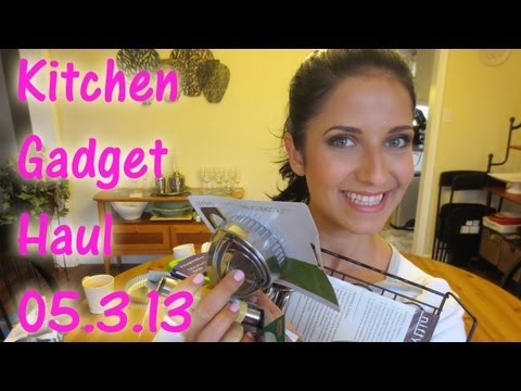 Kitchen Gadget Haul 5.3.13 - Laura's Topics Starring Laura Vitale