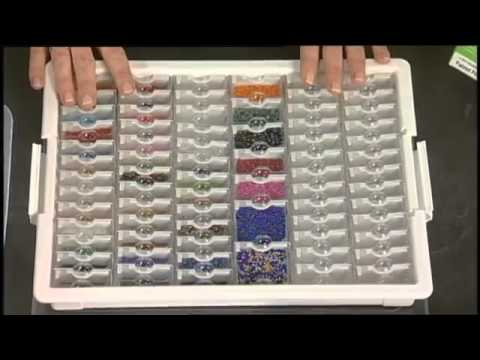 Bead storage solutions system youtube for Darice jewelry designer bead storage system with 24 containers