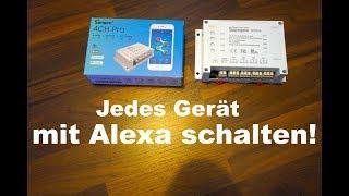 Amazon Echo: JEDES ELEKTROGERÄT MIT ALEXA STEUERN!! SONOFF 4CH PRO!!