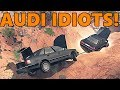 Spin Tires | TC and JeepGuy, AUDI IDIOTS vs THE OUTBACK Part 2! Multiplayer with Mods