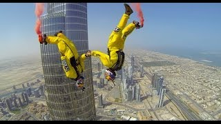Spectacular World Record Base Jump from Dubai's Burj Khalifa