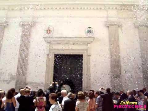 Lancio di Coriandoli bianco e aregento / Matrimonio 2012
