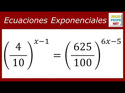 Ecuación exponencial-exponential Equation