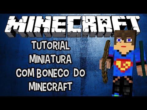 Como Criar uma miniatura com boneco do Minecraft