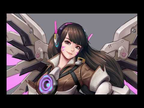 (painting)overwatch d.va+tracer+mercy speed painting(그림)