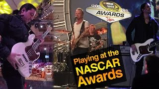 PLAYING AT THE NASCAR AWARDS WITH STING - UNBELIEVABLE EXPERIENCE - MICHAEL PHELPS - EDDIE VEDDER