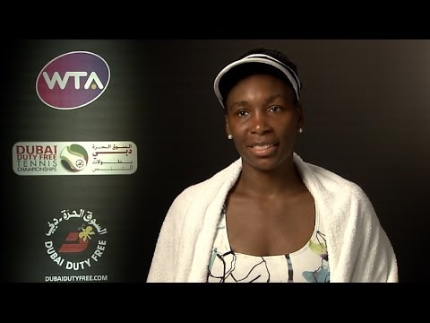 Venus Williams 2014 Dubai Duty Free Tennis Championships SF Interview