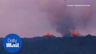 Kilauea volcano spews ash and lava nearly 6-miles into the sky - Daily Mail