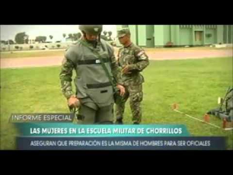 Mujeres en la Escuela Militar de Chorrillos Perú