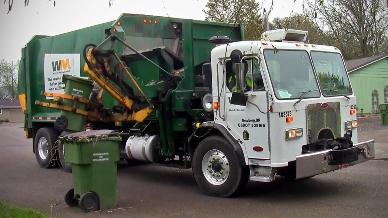 Waste Management Labrie Cool Hand Split Body Garbage Truck