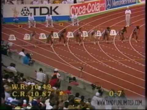 Women's and Men's 100m Finals from the 1993 World Championships