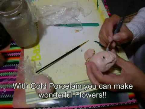 Sculpting a Dollhead in Cold Porcelain-Porcelana fria