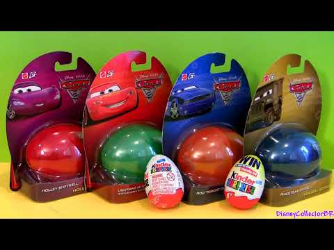 Disney Cars Surprise Eggs Holiday Edition Lightning McQueen Huevos Kinder Surprise Easter toys