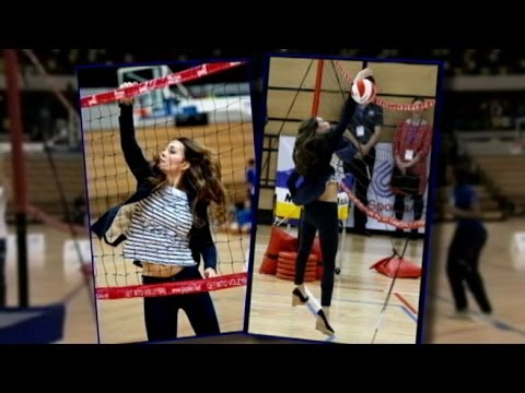 Kate Middleton Plays Volleyball, Wears Skinny Jeans and Looks Great a Few Months After Baby George