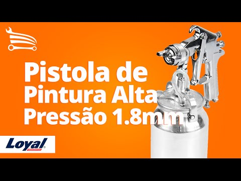 Pistola De Pintura Alta Pressão 1.8mm J4001 LOYAL - Loja do Mecânico