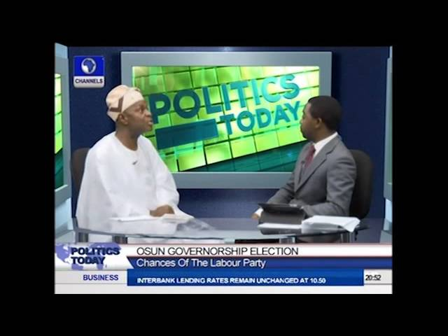 Politics Today: I will Win Osun State Governorship Election -- Akinbade Part2