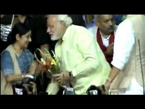 Chosen. Narendra Modi is BJP's candidate for PM