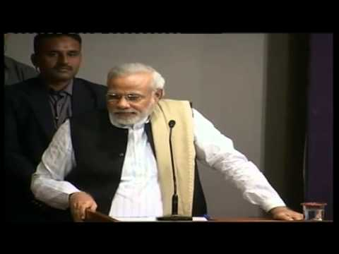 Shri Narendra Modi addressing Global Health Summit, 2014 organised by AAPI at AMA