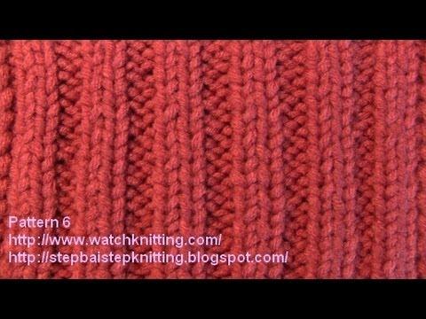 Jerseys stitches- Free Knitting Patterns Tutorial - Watch Knitting - pattern 6