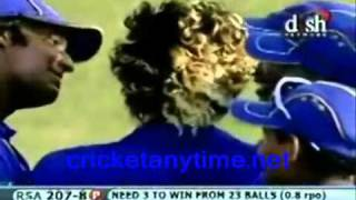 Malinga 4 wickets in 4 balls almost 5!