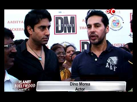 Abhishek Bachchan at Dino Morea's gym launch