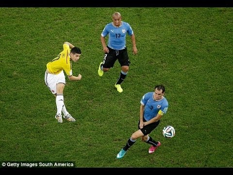 James Rodriguez Goal - Colombia vs Uruguay - World Cup 2014