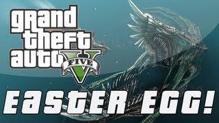 Grand Theft Auto 5 Sea Monster Easter Egg! (GTA V