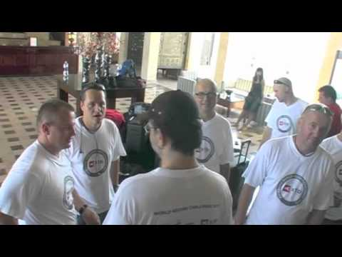 STEPANEK - XTB World Record Challenge 2011 Team arrival