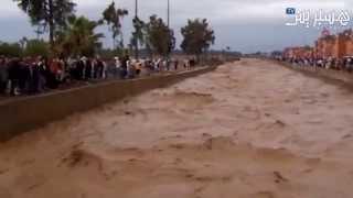 فيضان وسط مراكش