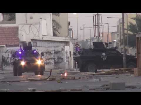 Bahrain : Violent clashes between angry protesters and riot police in Nuwaidrat