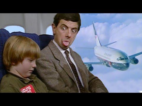 Safe Flight Mr Bean!   Funny Clips   Mr Bean Official
