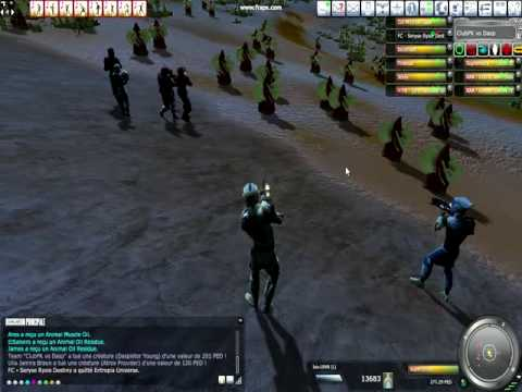 Fight-for-fun, Entropia Universe 2009, Here is a video of some hunting going on with club PK
