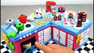 KITCHEN CAKE with Miniature Cakes | 食べれるミニチュア