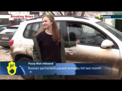 Russian Singers Set Free: Two Pussy Riot members are released slam amnesty upon release