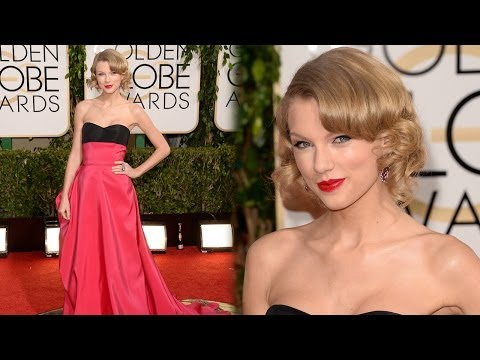 Taylor Swift Dazzles on 2014 Golden Globe Awards Red Carpet