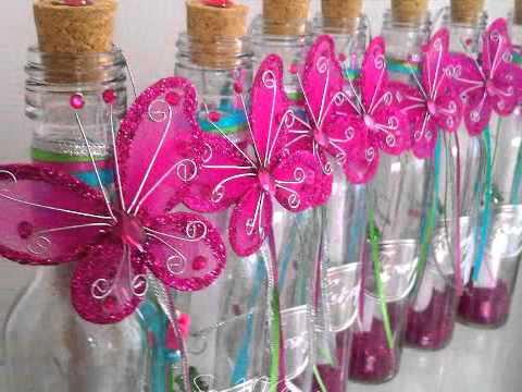 Invitaciónes de XV años en botellas de vidrio - Imagui