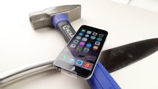 ضرب ايفون 6 بالمطرقة والسكين بالفيديو