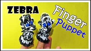 Rainbow Loom ZEBRA: Finger Puppet Tutorial