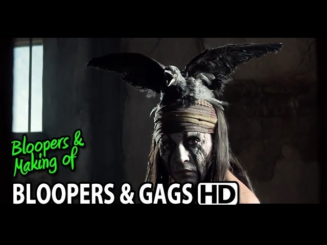 The Lone Ranger (2013) Bloopers Outtakes Gag Reel (Part1/2)