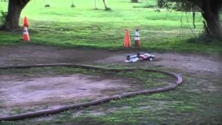 [Gas car VS Battery Car RC Track Todds Playground] Video