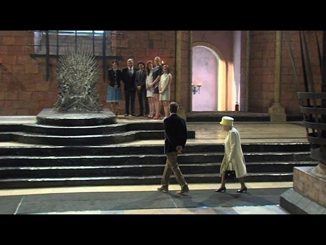 "Королева посетила съемочную площадку ""Игр престолов"""