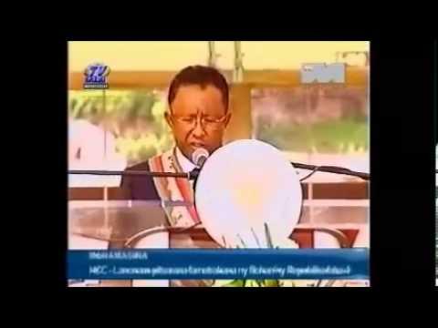 Discours du président malgache Rajaonarimampianina ou presque
