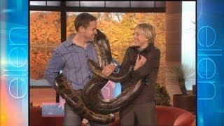 Memorable Moment: Ellen Meets a Friendly Snake