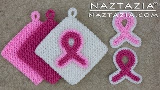 Learn How To Crochet Pink Awareness Ribbon Magic