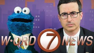 John Oliver and Cookie Monster: Word News Anchors
