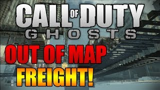 Call Of Duty Ghosts: Freight UNDER MAP / How To Get Under